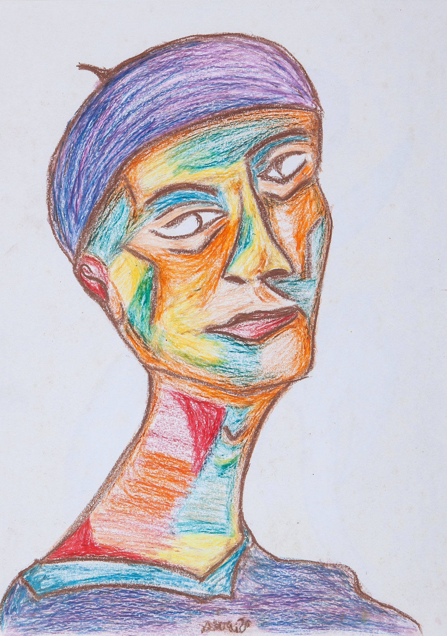 Cubist Style Head of a Woman