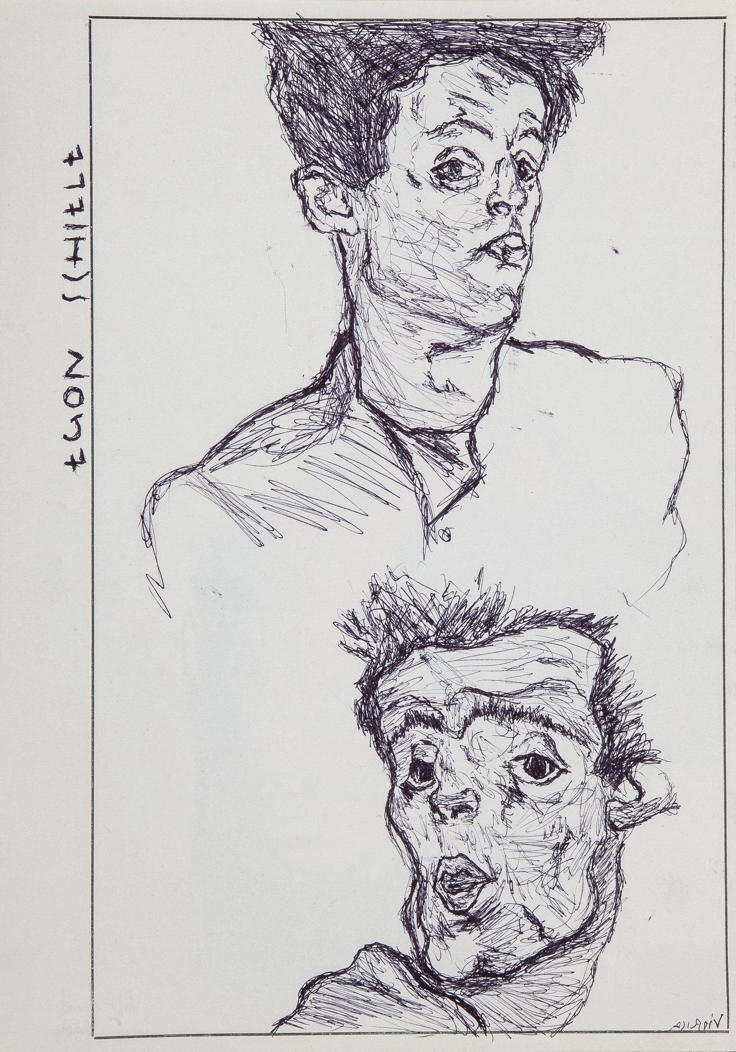 Schiele (Study 2) - Left Hand Made