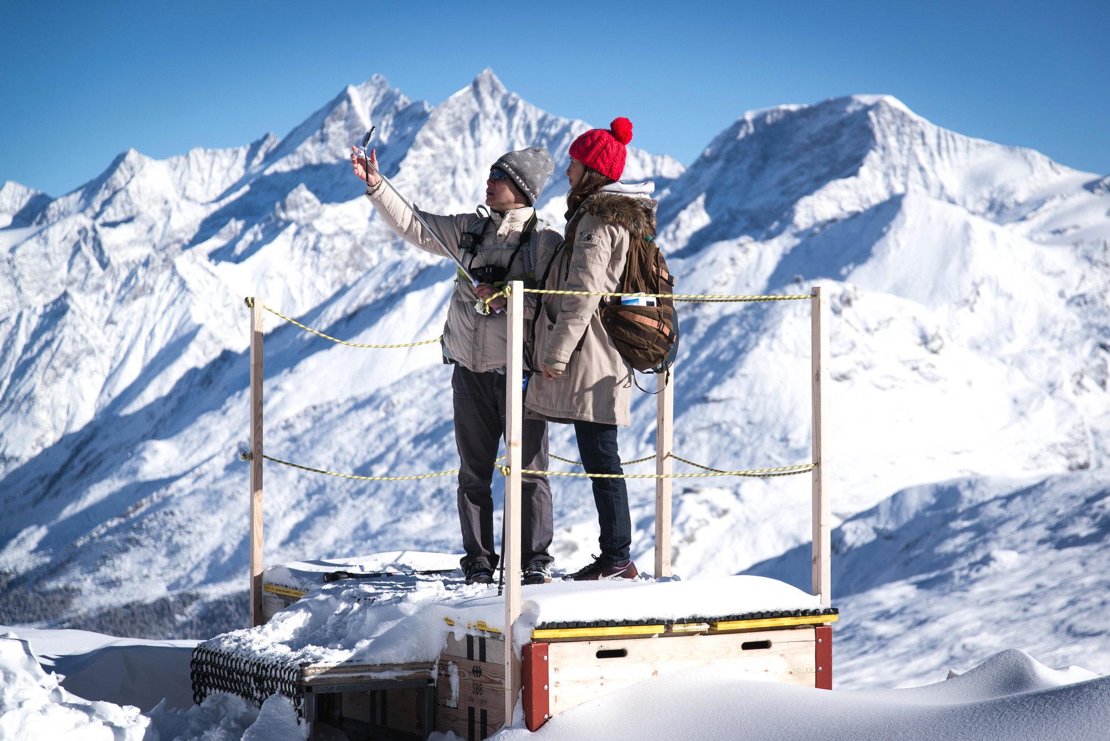 Rotkäppchen vor Matterhorn