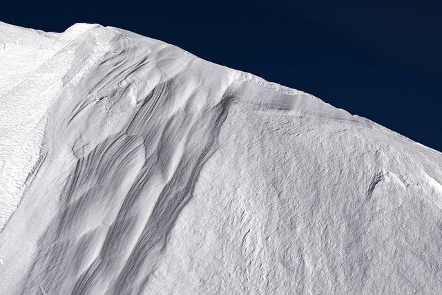 Detailansicht. Schnee.