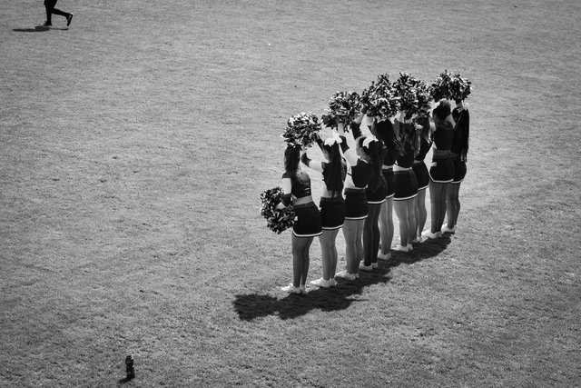 Waiting to lead a Cheer
