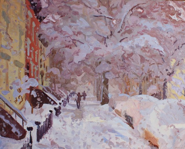 Park Slope Snow  24 x 30""