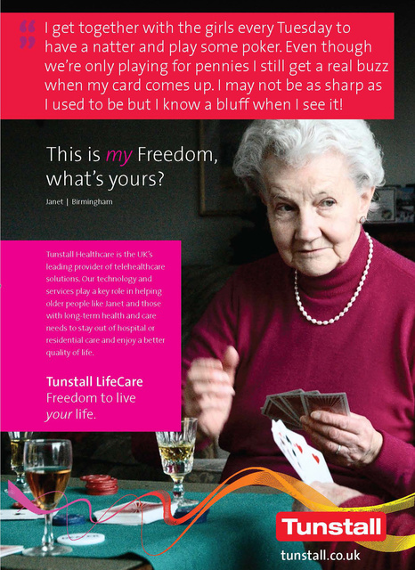 Tunstall Healthcare advertising campaign