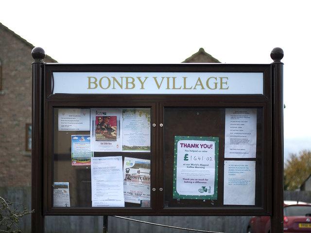 Bonby Village Noticeboard, 2017