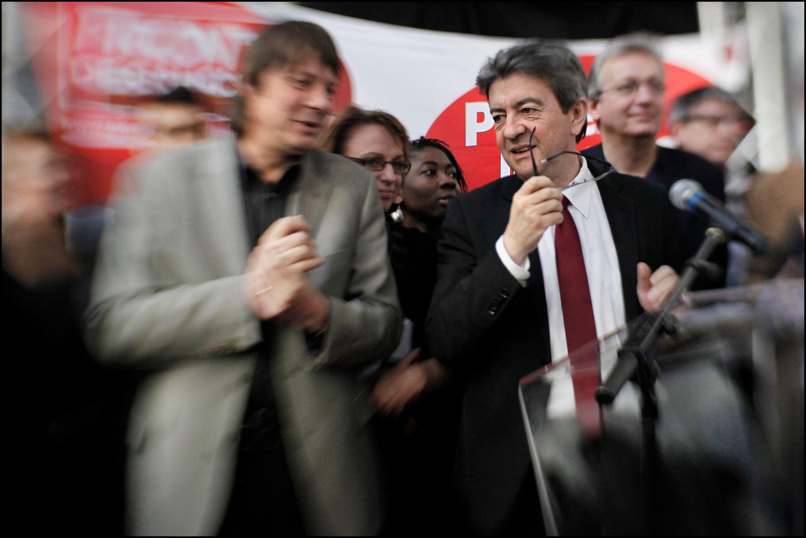 Jean-Luc Mélenchon, president du Parti de gauche,