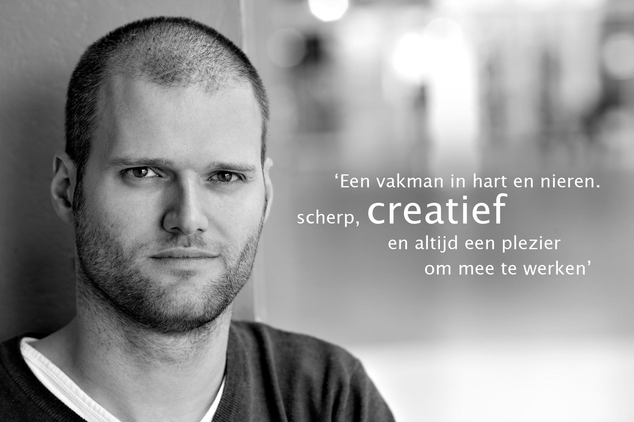 Roel Tiemessen is creative director bij VosLibert