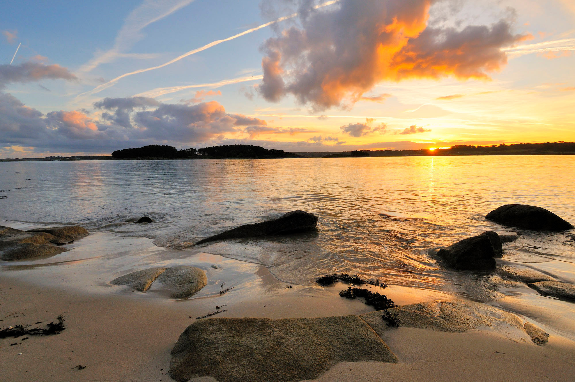 Vue sur l'île d'Avalon, Côtes d'Armor