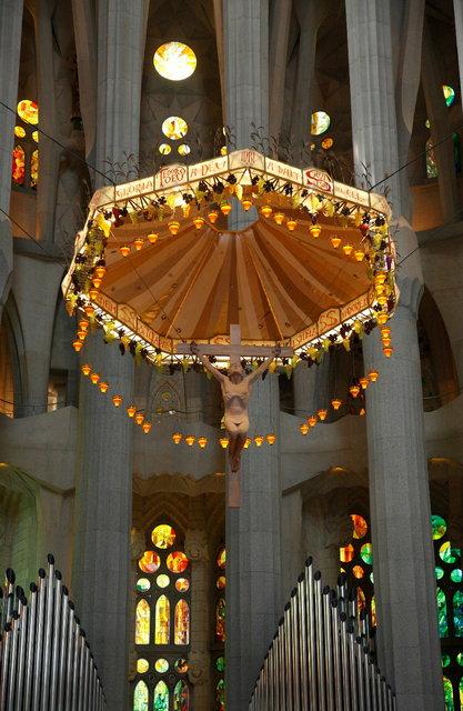 barcelona sagrada familia crucifix