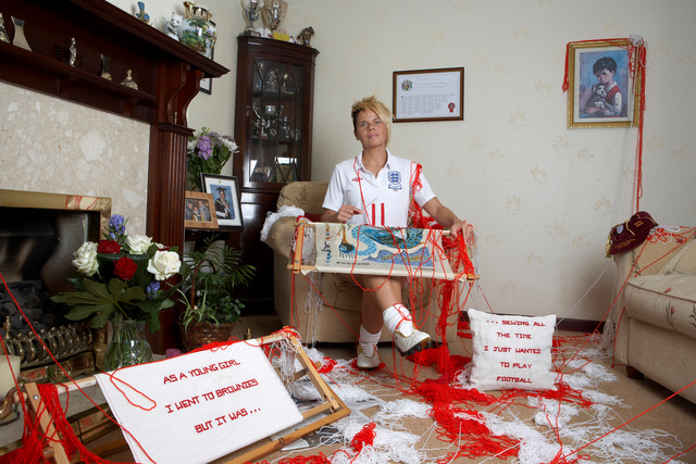 Sue Smith, England International.