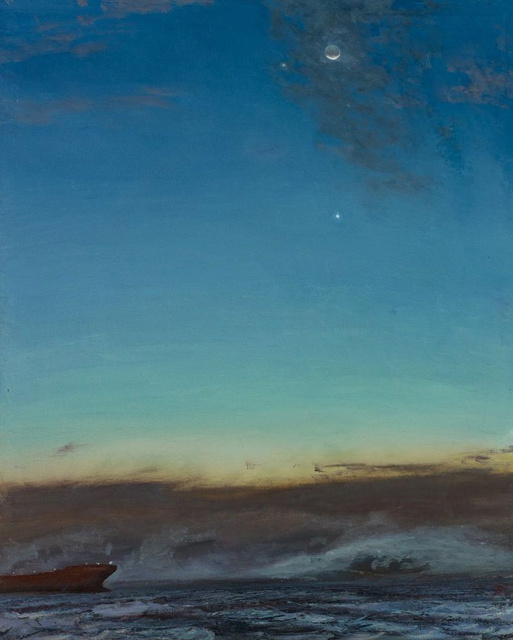 Jupiter, Venus, Moon Conjunction, 44 x 34