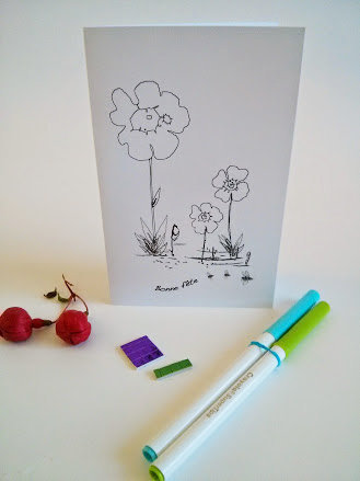 Greeting card to color