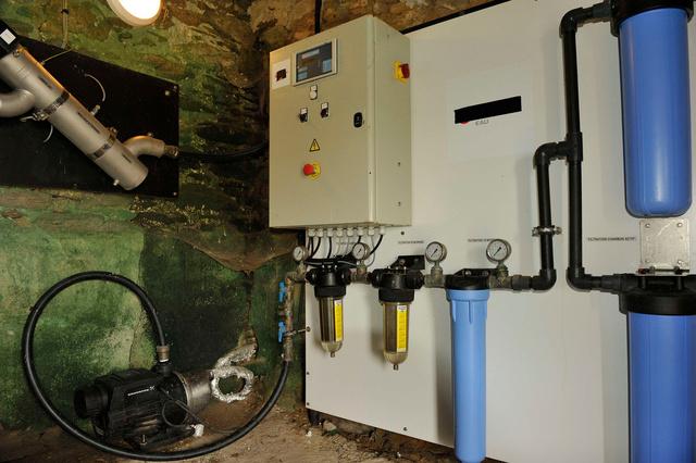 L'installation sophistiquée du traitement de l'eau douce.