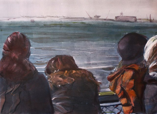 "Staten Island Ferry    22 x 30"""