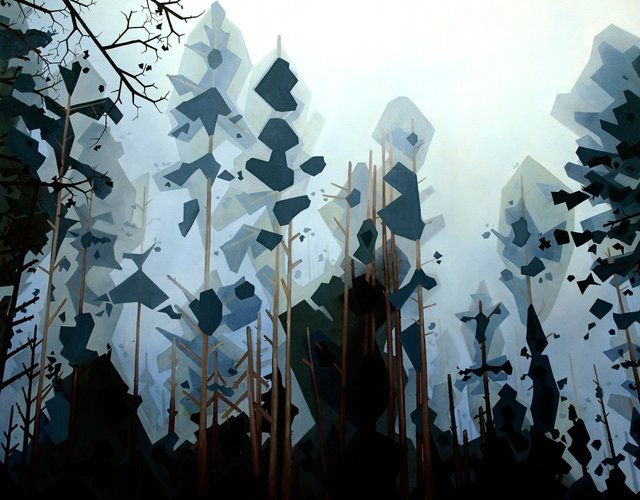 Tree Tops, 2011, oil on canvas, 48 x 60""