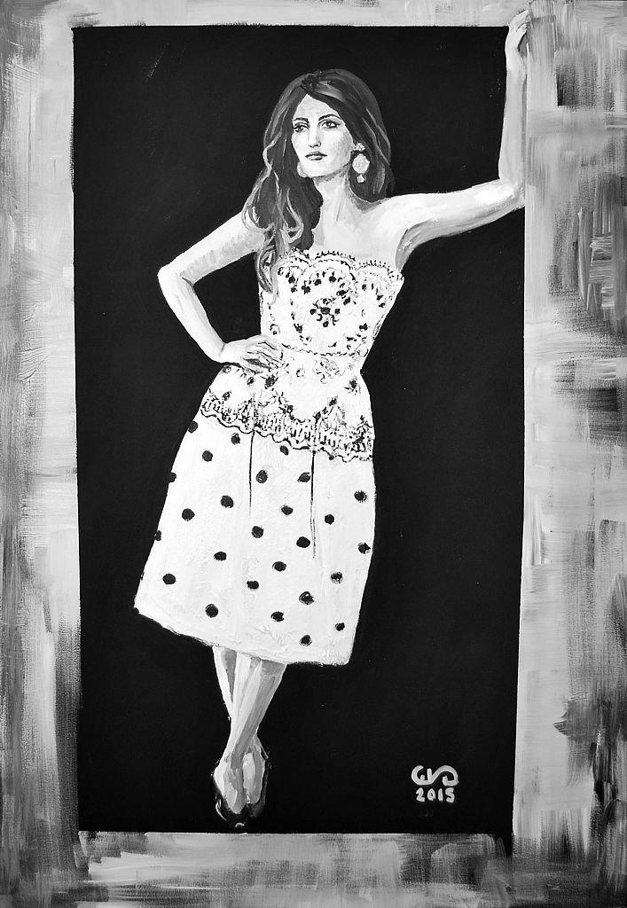 Dziewczyna z Alcobendas z cyklu Beauties 100x70 akryl płótno 2015