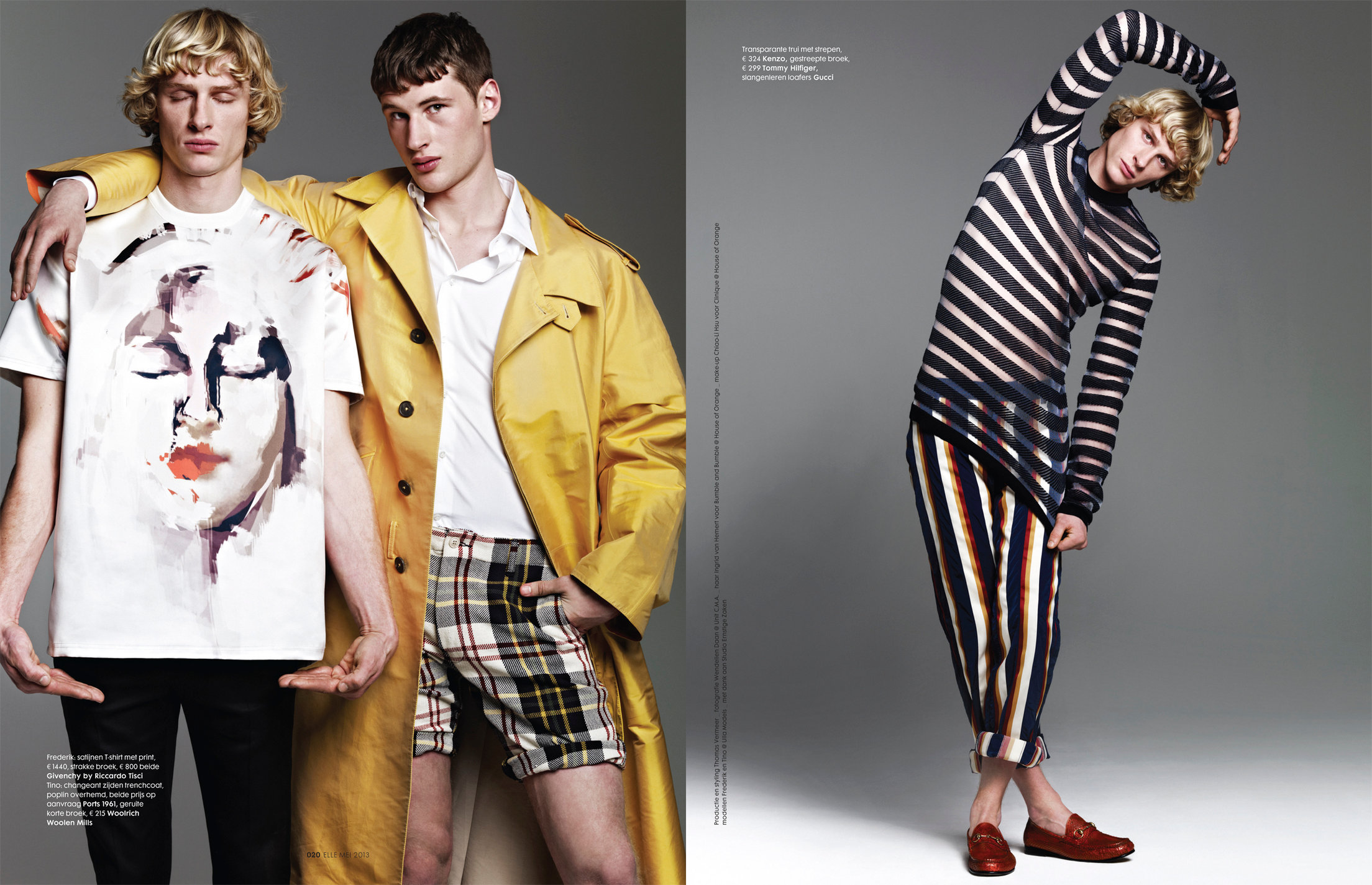 ELLE NL 2013 with Tino Zidane and Fredrik Meijnen fashion editor Thomas Vermeer