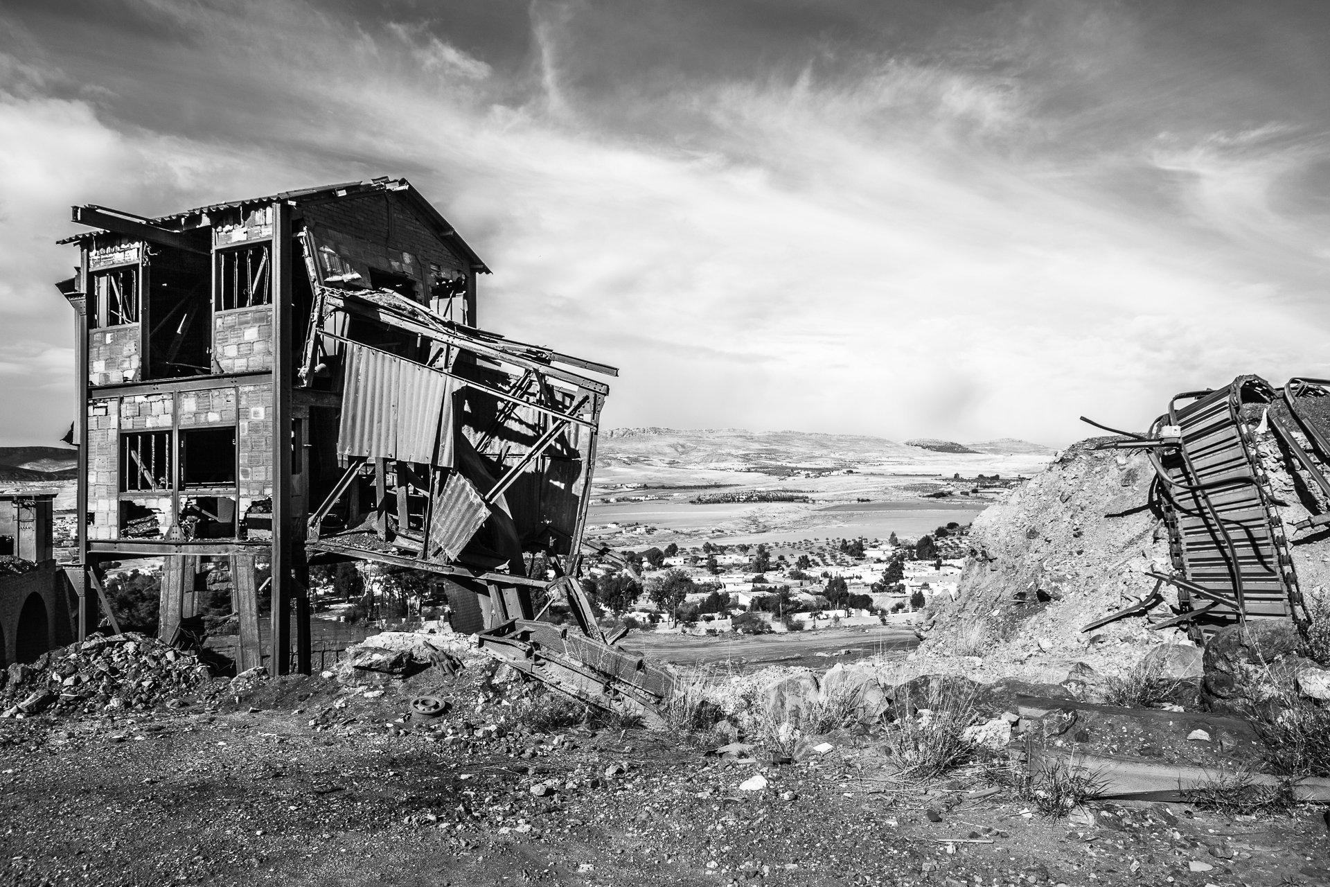 Mine de fer de Jerissa (encore en opération), 2013.