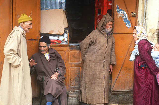 Fes locals, Morocco