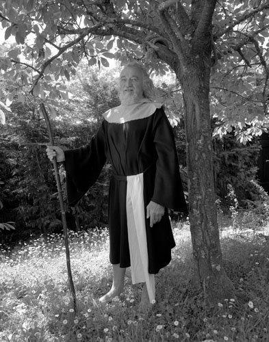 Michel Chauvin, druide, Baden, Morbihan, 2001