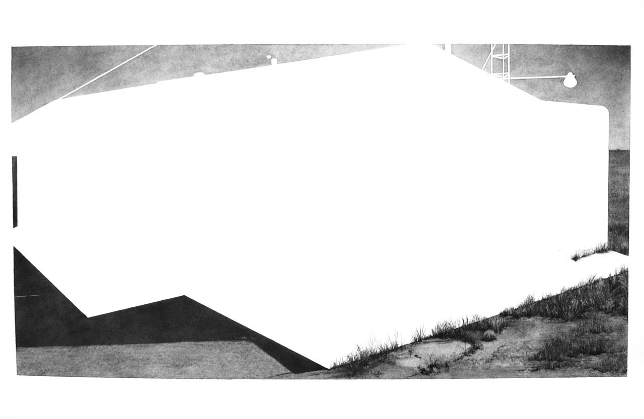 Terlingua Store, 2012, graphite on paper, 22 x 30""