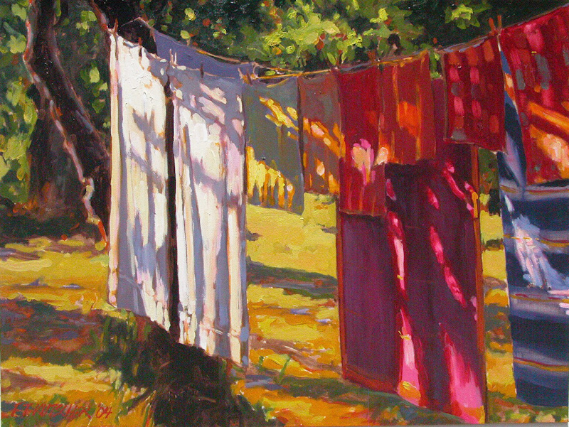 Clothesline in the Late Afternoon