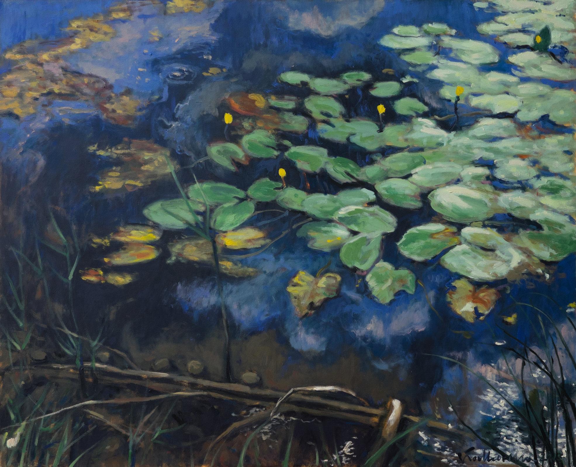 Water lily 100x81 olej płótno