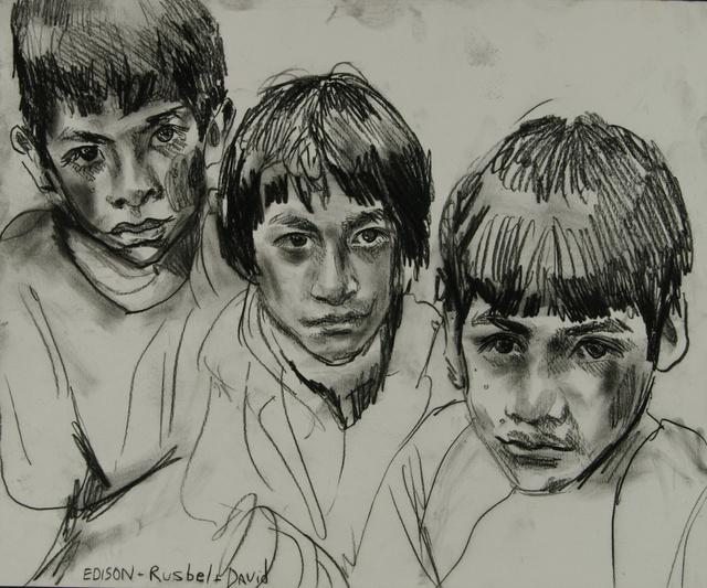 """Edison, Rusbel, David, 18 x 24"""" sold"""