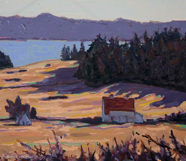2009-8 February Afternoon_ Crow Valley (Orcas Island_ WA) (11W  9.5H oil on canvas on board) small.j