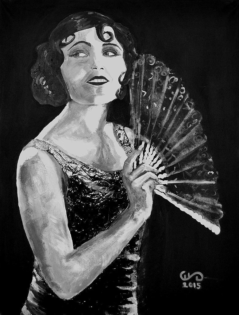 Gloria Apolonii Chałupiec z cyklu Beauties 80x60 akryl płótno 2015