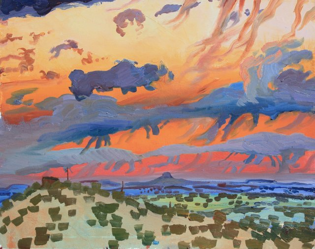 Cabezon Sunset    24 x 30""