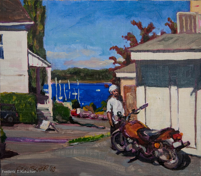 Chef Steve's Motorcycle (11.375W  10H oil on canvas on board) 2010-25_.jpg