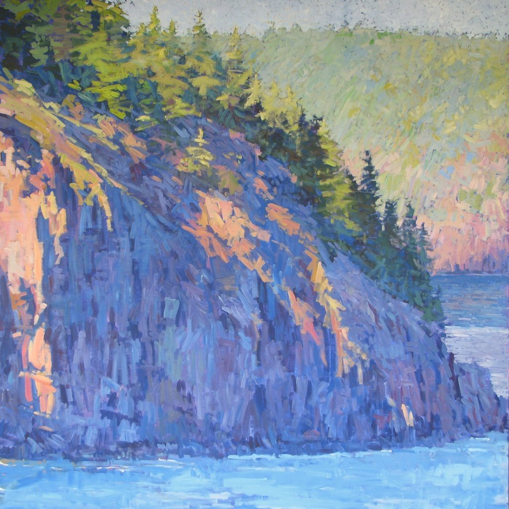"Bald Porcupine Island Into Early Evening, 2013, Acrylic on Canvas, 72"" x 72"""