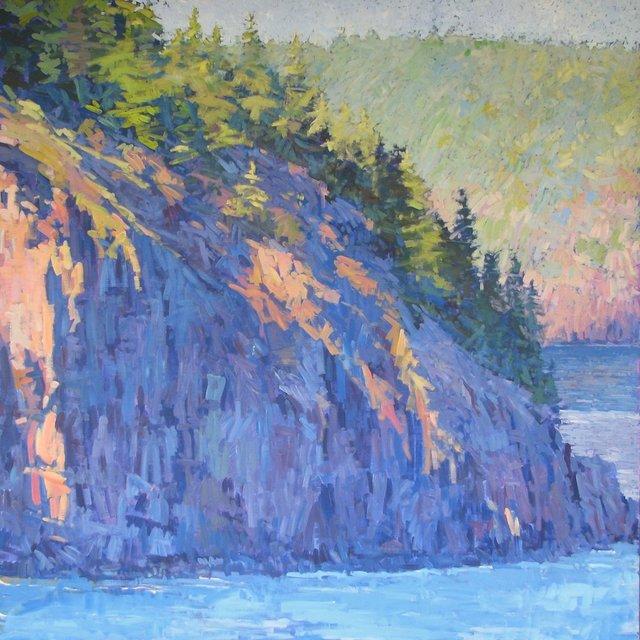 "Bald Porcupine Island Into Early Evening, 2013, Acrylic on Canvas, 72"" x 72"""