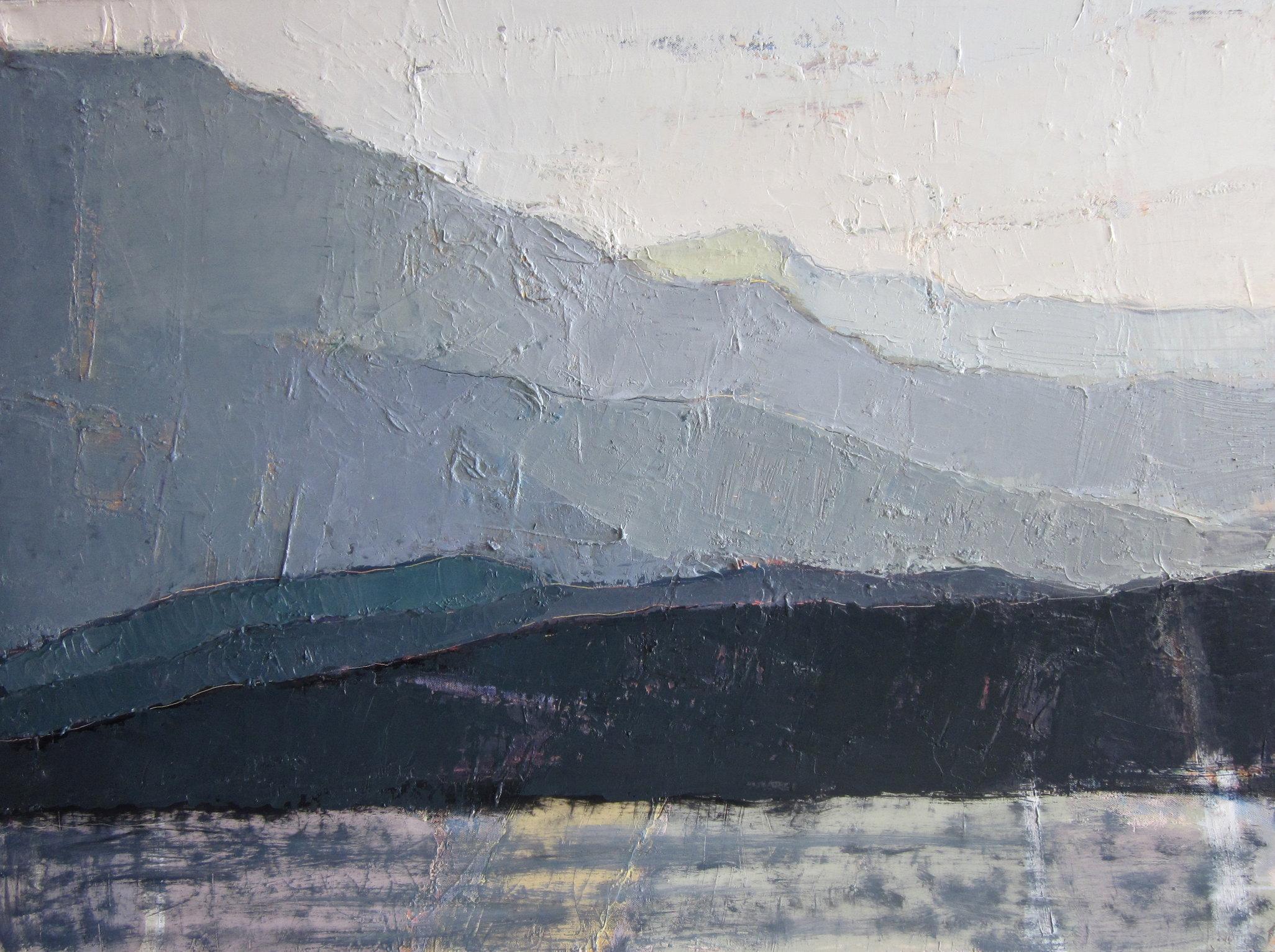 'Aerial perspective III. Montenegro'  oil on canvas / 75X100cm / 2014