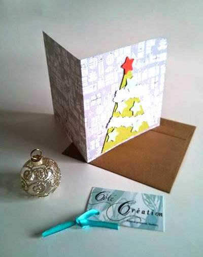 Christmas greeting card to plant (seed paper)