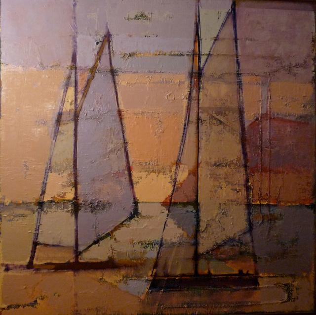 'Sailing boats. Sunset'