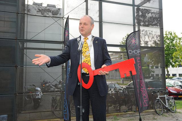 Opening CHDR2 meii 2013, burgemeester van Leiden, Henri Lenferink