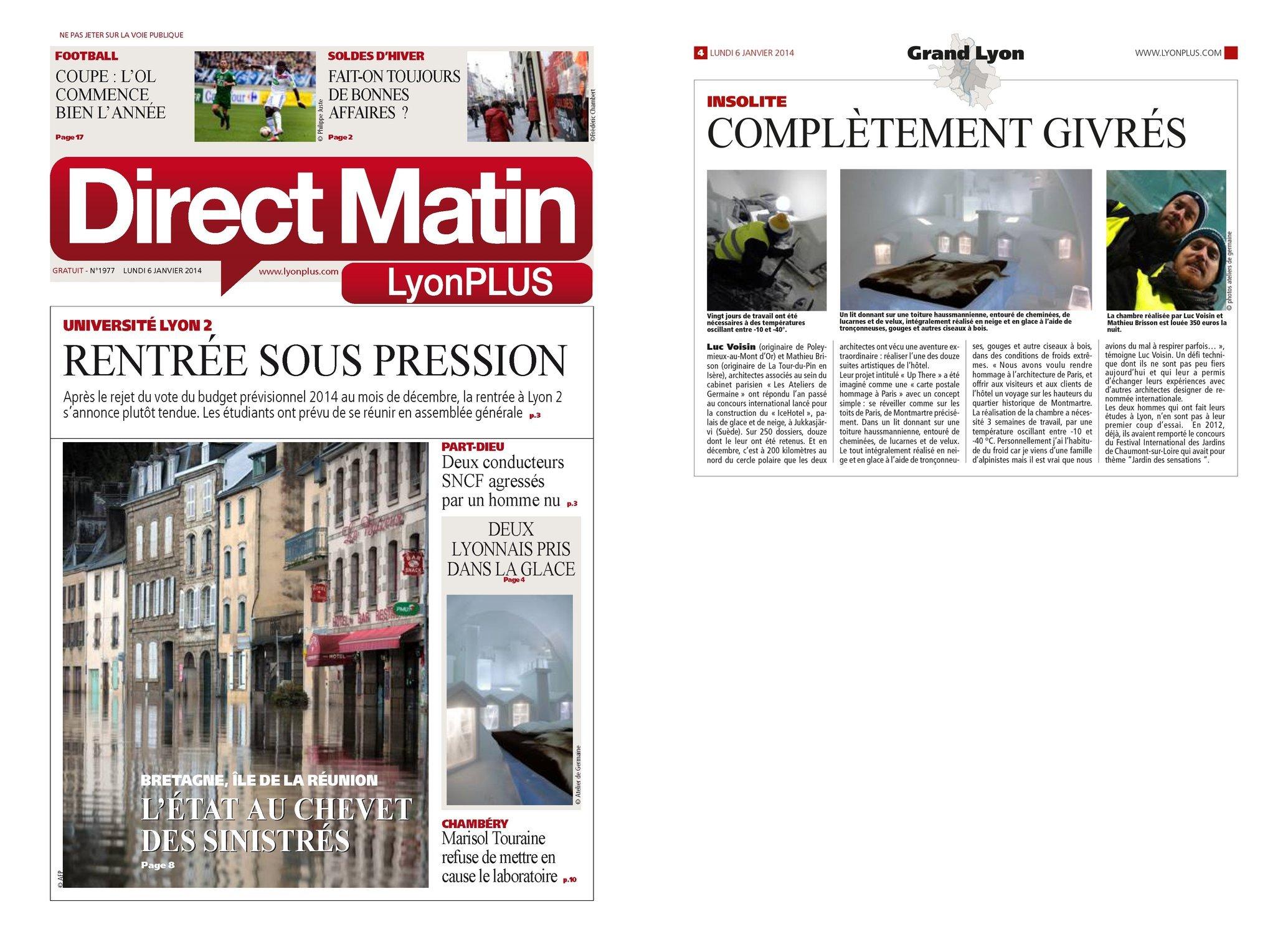 DIRECT MATIN LyonPLUS - 06/01/14