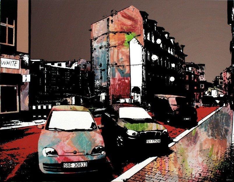 Barwy metropolii, 100x130 akryl płótno 5600pln 2010