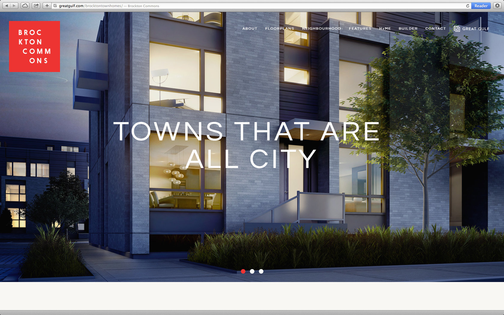 BROCKTON COMMONS TOWNHOMES WEBSITE  1/13