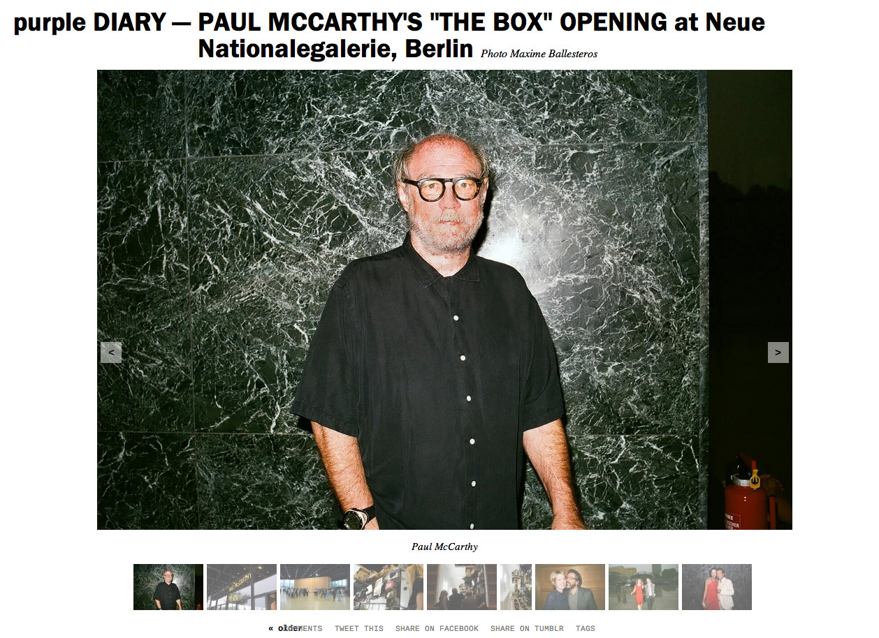 purple DIARY   PAUL MCCARTHY S  THE BOX  OPENING at Neue Nationalegalerie  Berlin.jpg