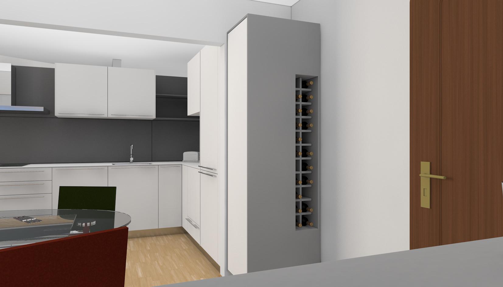 Umwandlung Bestandswohnung | Küche Schrankmöbel
