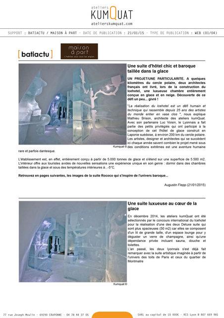 BATIACTU + MAISON A PART - 21/01/15