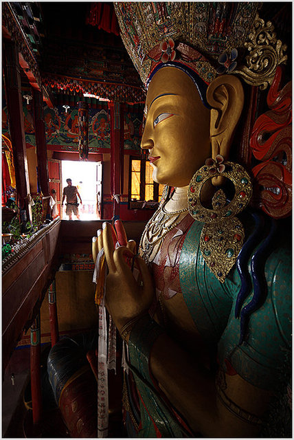 buddha in thiksey gompa,12 m high
