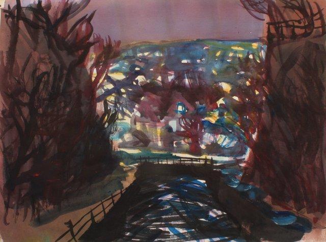 """Cascadilla Gorge   22 x 29"""""""