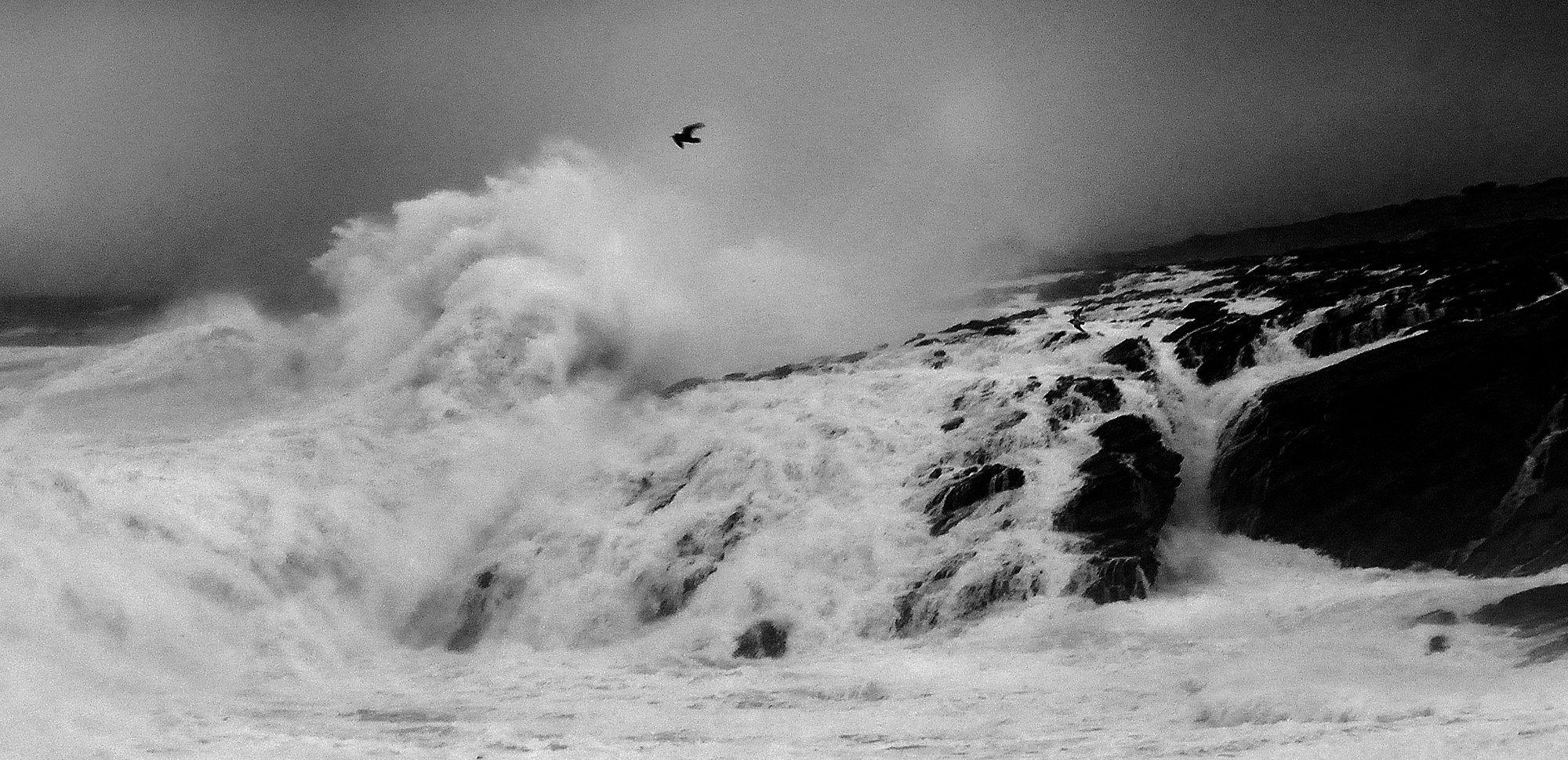 Tempête sur la côte sauvage de Quiberon, Morbihan