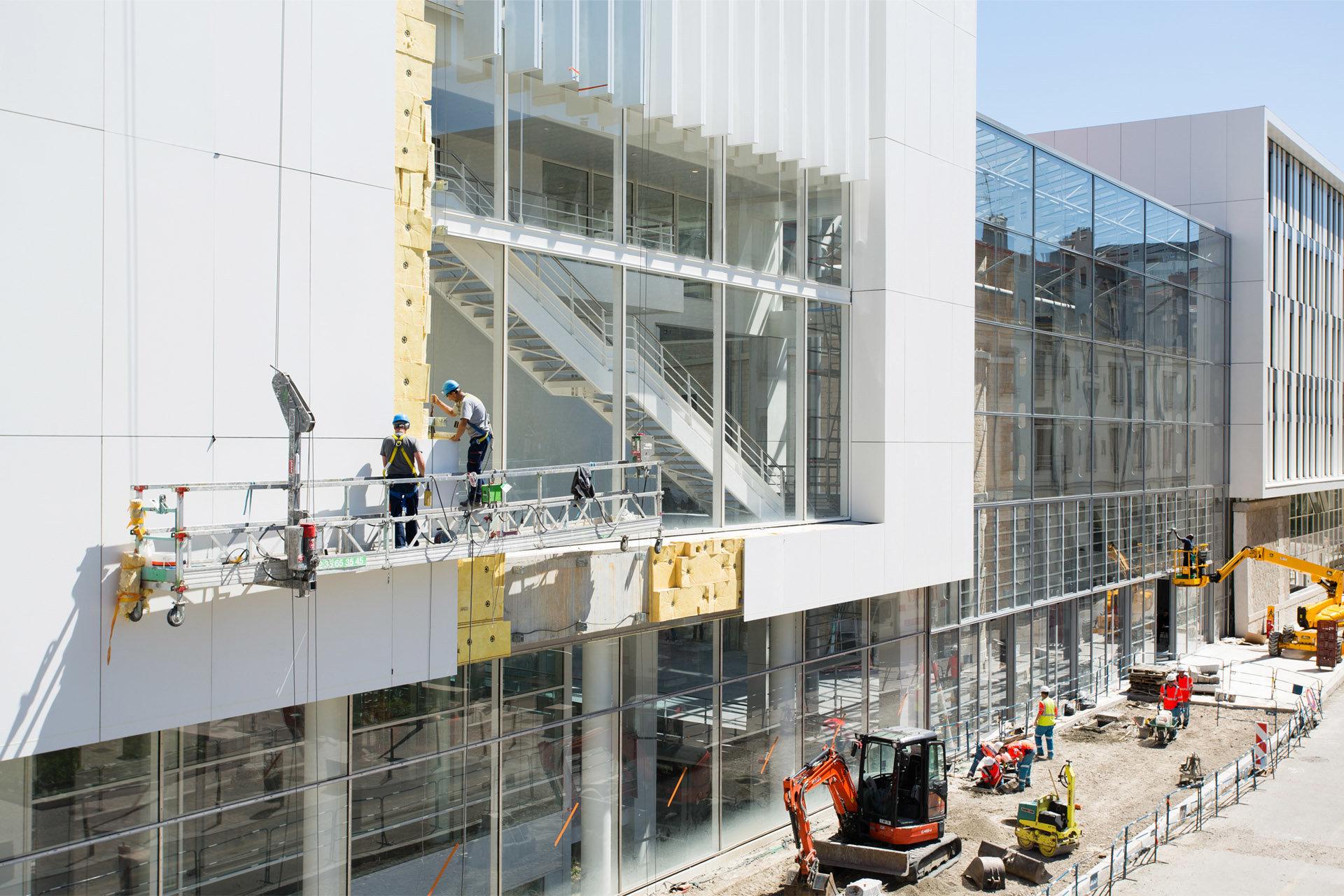 Suivi chantier de l'Université Catholique de Lyon, juin 2015, Rhône-Alpes