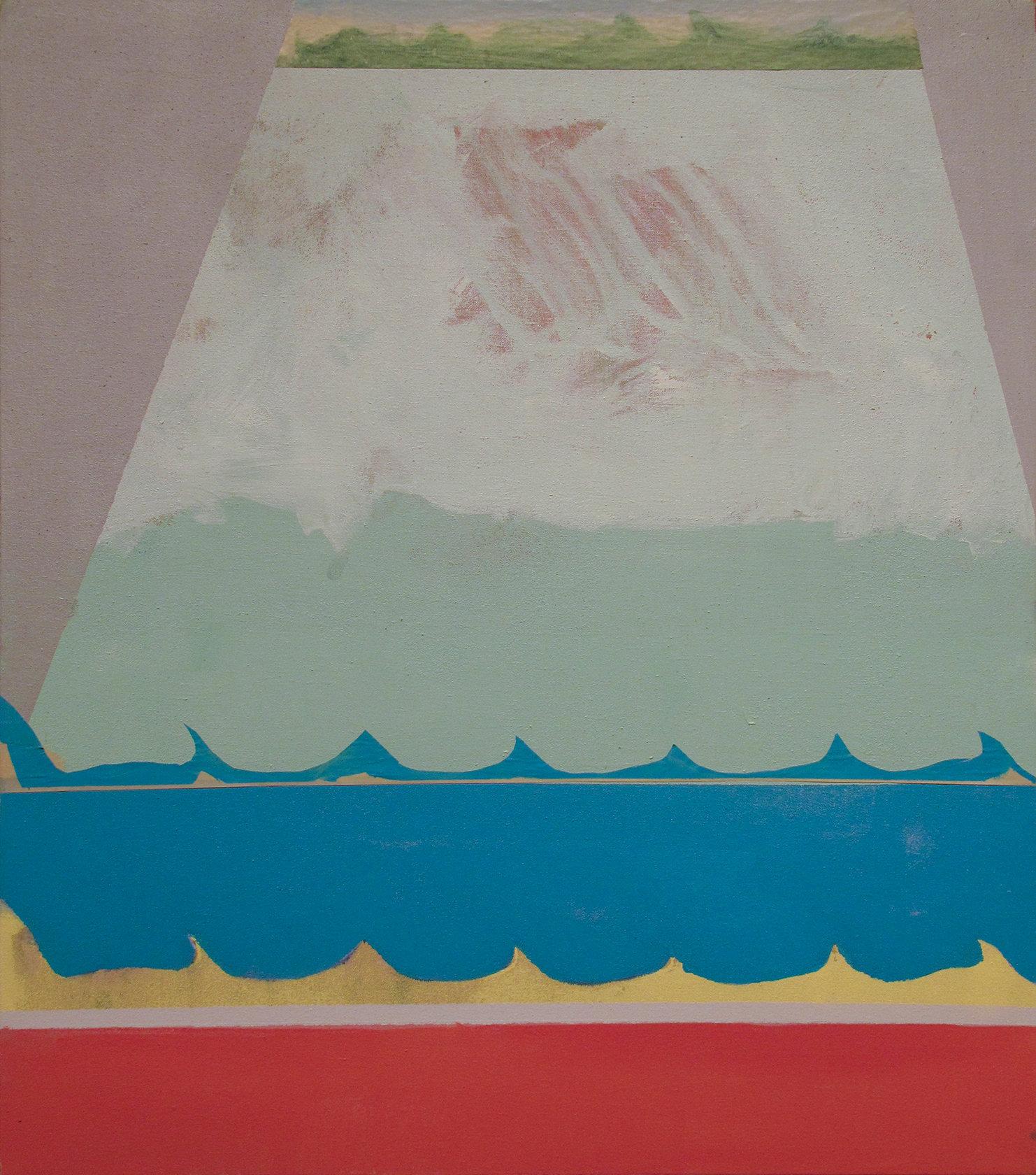 """""""Junk Boat,"""" 2011, 36x32."""