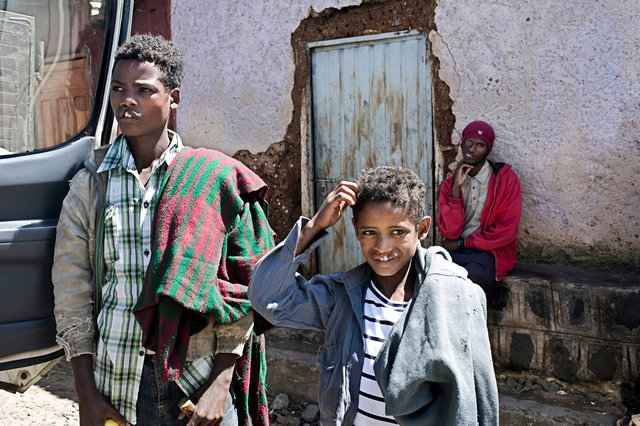 Addis Abeba, Ethiopia, Patients heading to the mission site to receive surgery