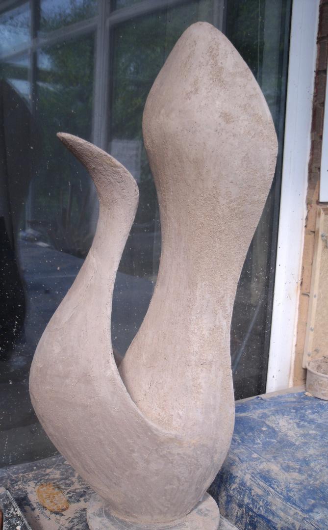 Floral sculpture 2007/11  73 x 30 x 21cm